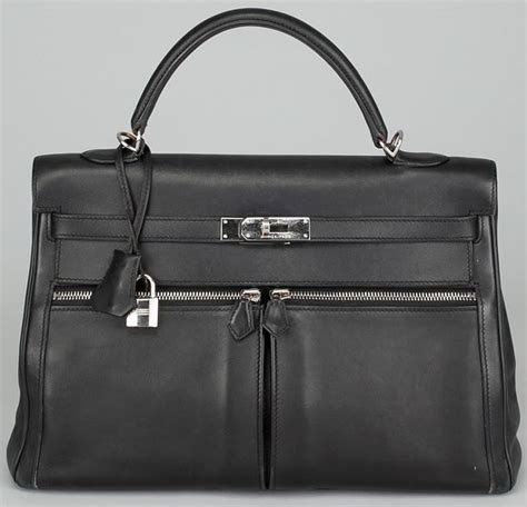 Black Leather For Sale by Black Leather Hermes Lakis Replica Bag For Sale