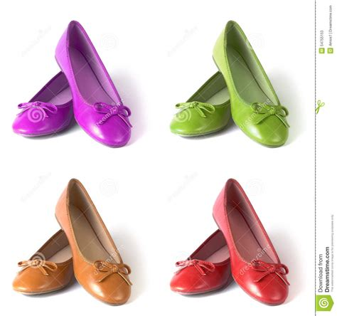 Flat Shoes Nobody flat shoes stock photo image 54755153