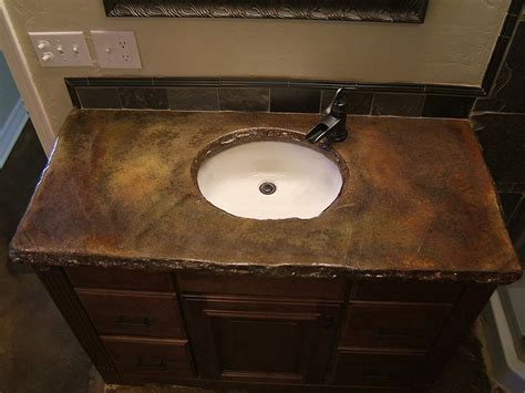 Diy Bathroom Countertop Ideas Best 25 Stained Concrete Countertops Ideas On