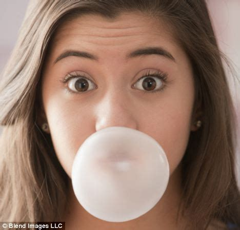 ate gum chewing gum could make you because the minty taste makes sugary food more tempting