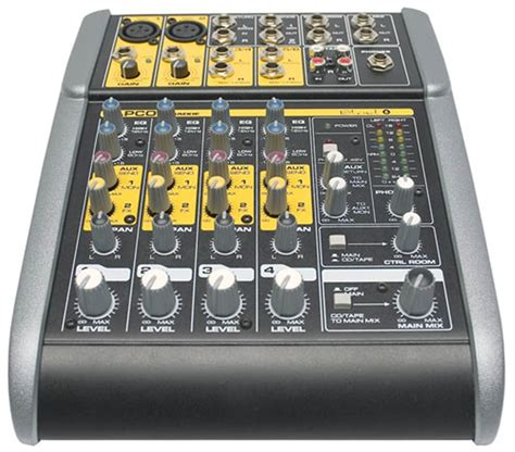 Mixer Mackie 6 Channel tapco blend 6 6 channel mixer w mackie pres pssl