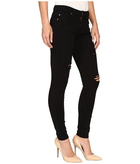 Size 27 30 Louisa Cropped Stretch 7 for all mankind ankle w destroy in slim illusion
