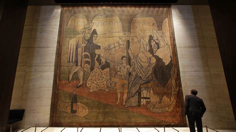 picasso curtain four seasons four seasons restaurant s large picasso painting on the