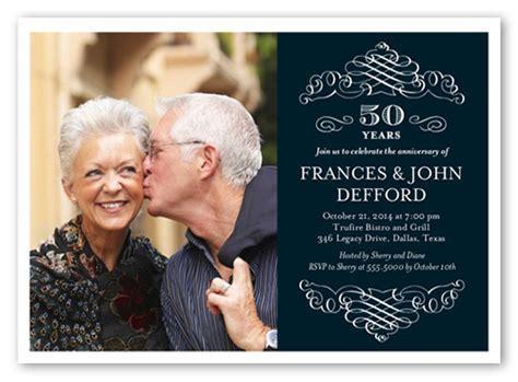 Memorable Years 5x7 Invitation   Wedding Anniversary