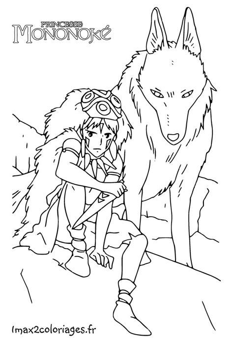 princess mononoke coloring pages 34 best coloring pages images on pinterest