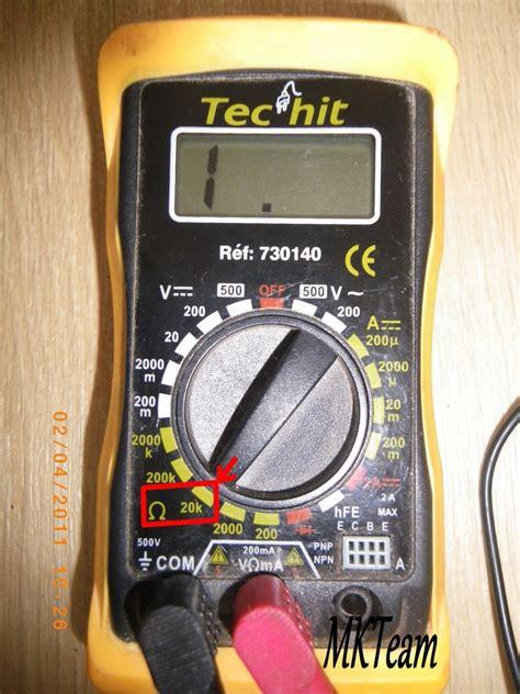 Tester Un Fusible Sans Multimetre 3914 by Tester Capteur Pmh Avec Multimetre Sur Les Voitures