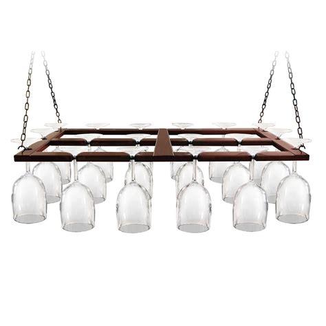 Hanging Wine Racks Ceiling by Epicureanist Wood Ceiling Hanging Wine Glas Rack Ep