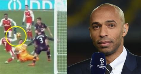 alexis sanchez handball irony not lost as thierry henry tries to justify alexis
