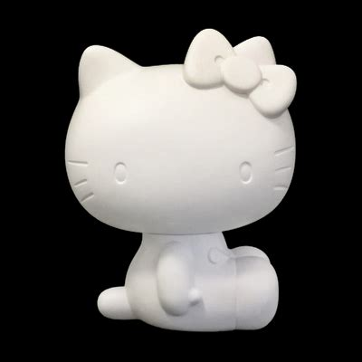 Vcd Original White medicom x sanrio 4 quot ready to paint diy hello vcd