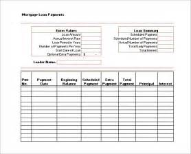loan spreadsheet template 18 payment schedule templates free word excel pdf