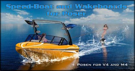 speedboot wakeboard speedboat wakeboards poser sharecg
