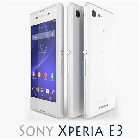 format video xperia e3 3d model of sony xperia e3