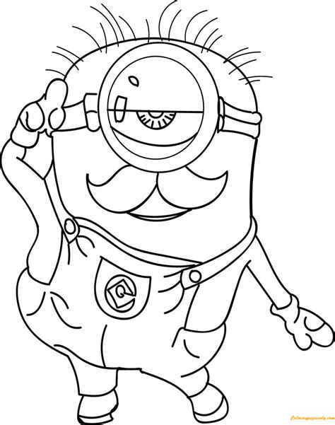 coloring pages cute minions minion cute coloring page free coloring pages online