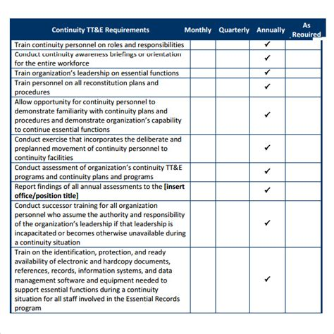 business contingency plan template sle business continuity plan template 8 free
