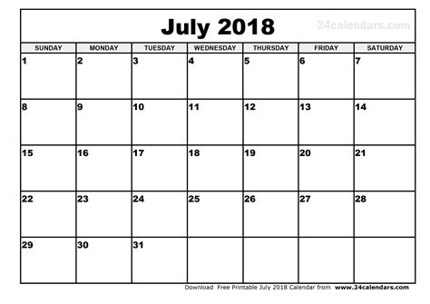 printable calendars july july 2018 printable calendar 2018 calendar with holidays