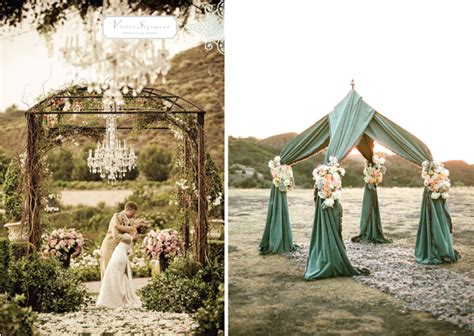 wedding ceremony decor altars canopies arbors arches