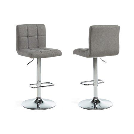 Walmart Adjustable Height Bar Stools by Adjustable Height Fabric Bar Stool Grey Set Of 2