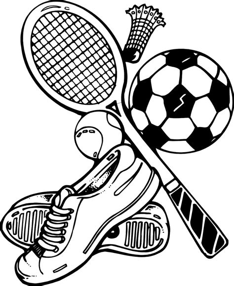 Sports Coloring Page Sports Coloring Pages Coloring Ville