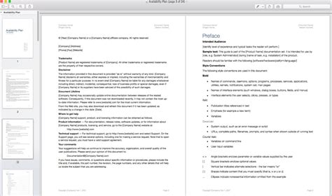 proposal template for apple pages availability plan template apple iwork pages