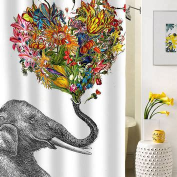 happy elephant shower curtain best adorable shower curtains products on wanelo