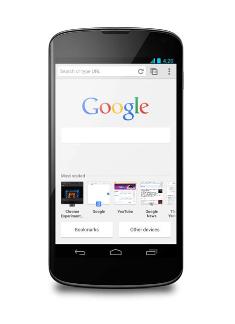 chrome android chrome chrome for android gets application shortcuts and faster search