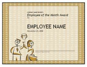 Free Employee Of The Month Certificate Template by Free Employee Of The Month Template For Employee