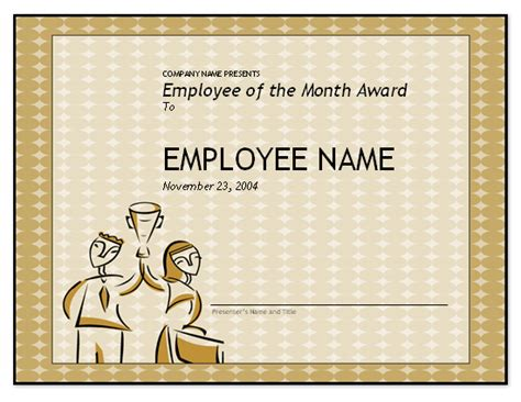 free employee of the month template for employee