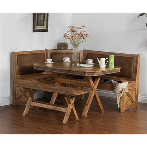 benches for breakfast nook sedona breakfast nook set w side bench