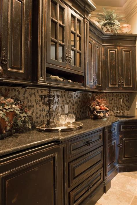 distressed wood kitchen cabinets butler s pantry kitchens i
