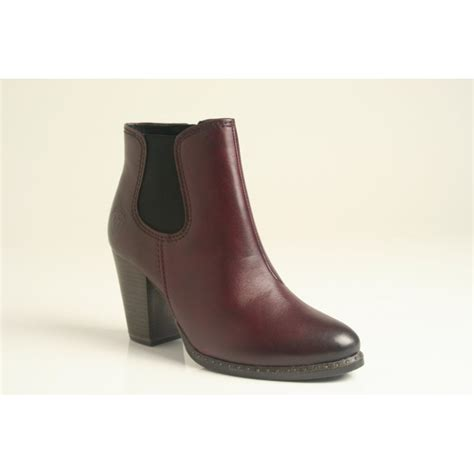 burgundy boots ankle boot with zip in soft burgundy coloured