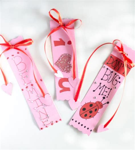 valentines bookmarks s day bookmarks