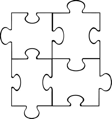 4 puzzle template puzzle template 6 pieces clipart best
