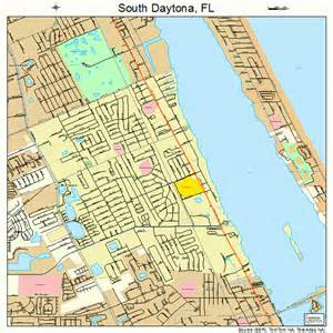 south daytona florida map 1267325