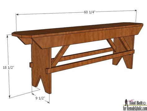 farm bench plans how to build a primitive farmhouse bench remodelaholic
