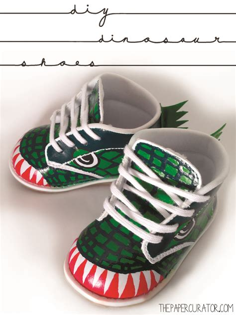 diy toddler shoes diy custom painted dinosaur shoes the paper curator