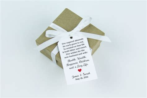 Wedding Favors Almonds by Almonds Favor Tag Dragee Wedding Favor Tag Almond