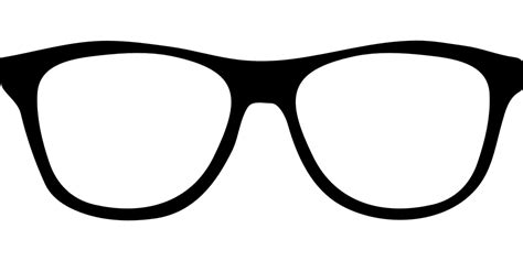 free vector graphic glasses frame black free image on