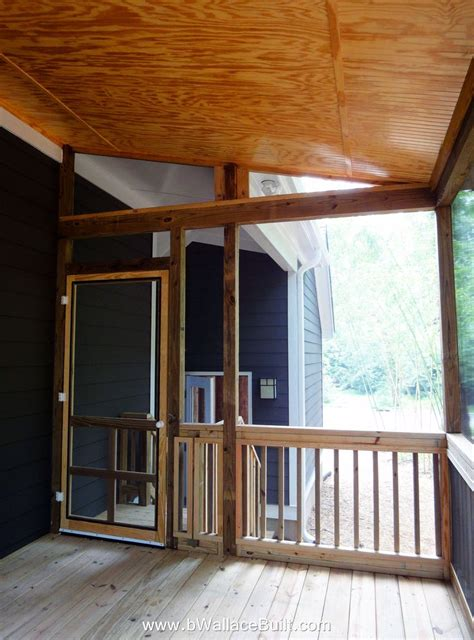 porch and patio screened in back deck with bead board ceiling but i