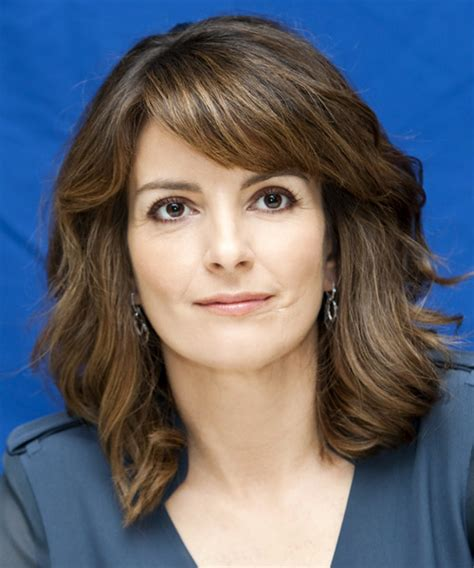 Tina Fey Hairstyle by Tina Fey Medium Wavy Casual Hairstyle