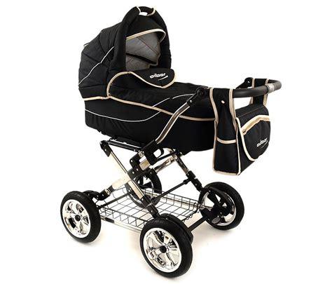 Barn Vagn barnvagn galiani 3 i 1 svart beige barnvagn