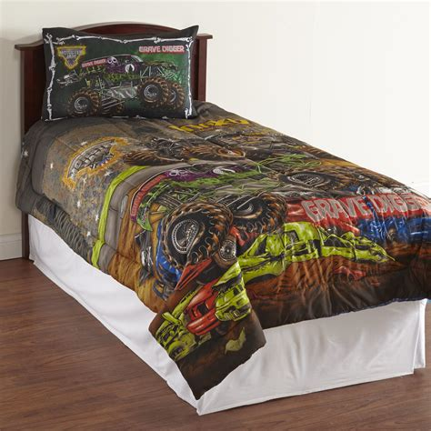 monster jam comforter monster jam boy s microfiber comforter monster trucks