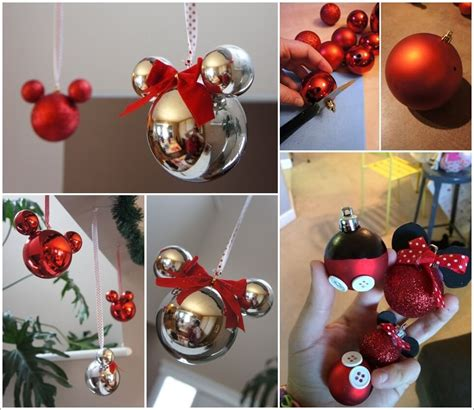these mickey mouse ornaments are just adorable