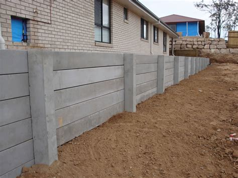 Concrete Sleeper Retaining Wall Installation by Australian Retaining Walls Concrete Sleepers Retaining
