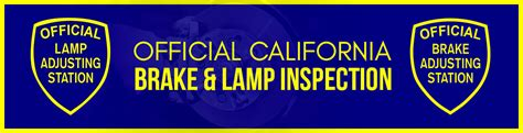 brake and light inspection san official brake and light adjustment certificate location