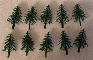 Green plastic trees cake decorating christmas craft misc craft supply