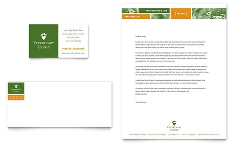free veterinary business card templates veterinarian clinic business card letterhead template