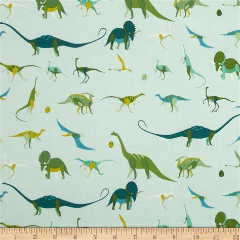 Sale 16100 Pattern the hit parade dinosaurs green discount designer fabric