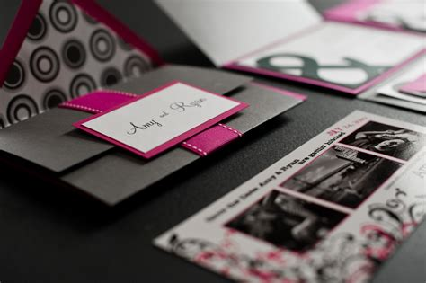 wedding invitations black and pink and s ersand wedding invitations