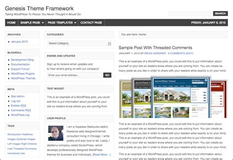 Genesis Framework V2 5 4 the 5 default layout of the genesis theme framework
