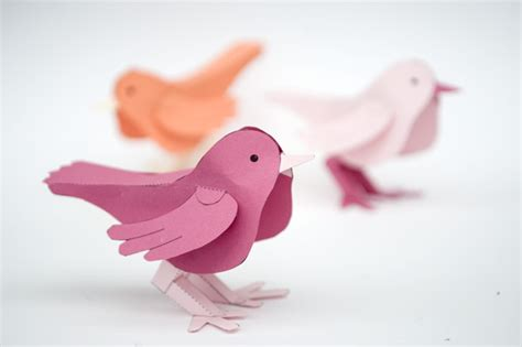 How To Make 3d Birds From Paper - best photos of birdhouse made out of paper layout 3d